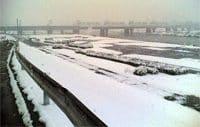 雪景色の多摩サイ