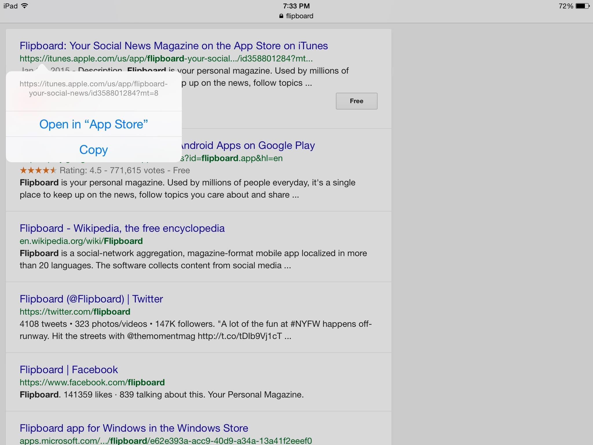 Pinterest app Pins登録