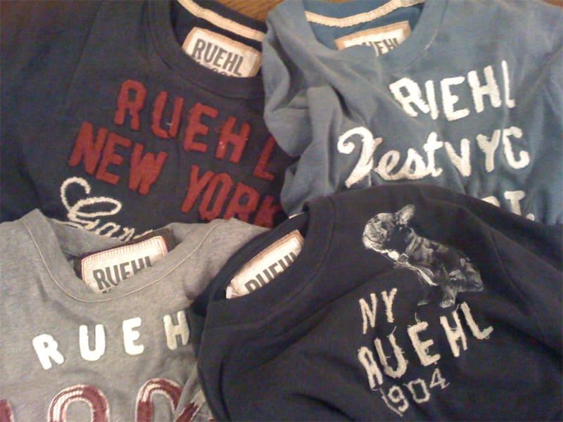 RUEHL No.925のTシャツ(公式サイトから購入)