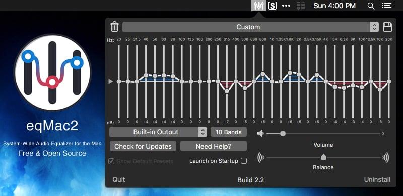 eqMac2:Macの音質向上