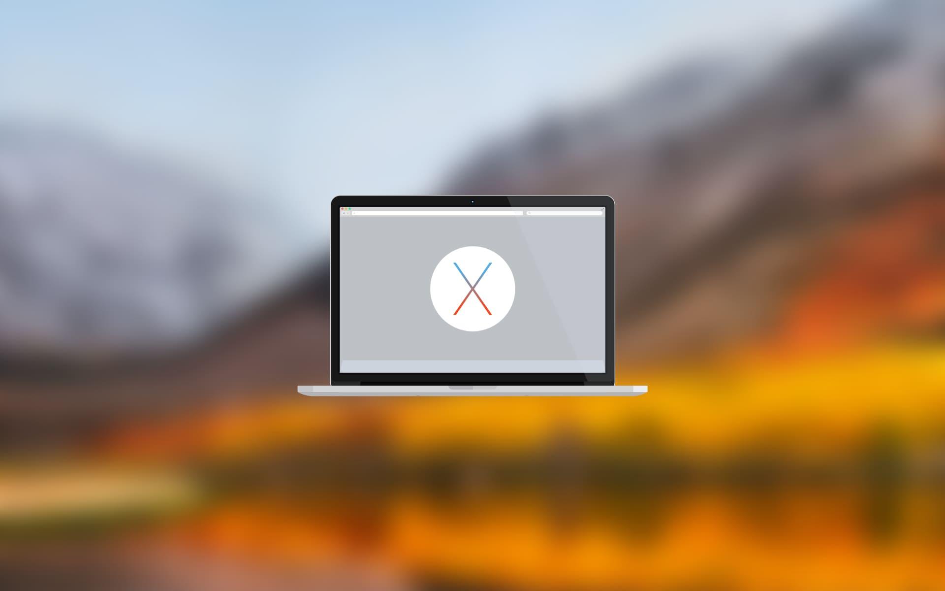 Sierra から macOS High Sierra (10.13.6) にアップグレード
