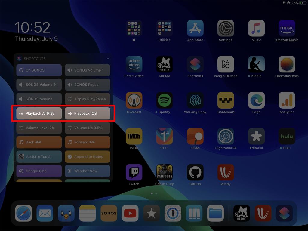 iPadOS ホーム画面にウィジェットを常に表示