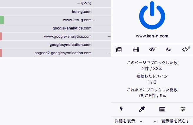 Chrome機能拡張 uBlock Origin